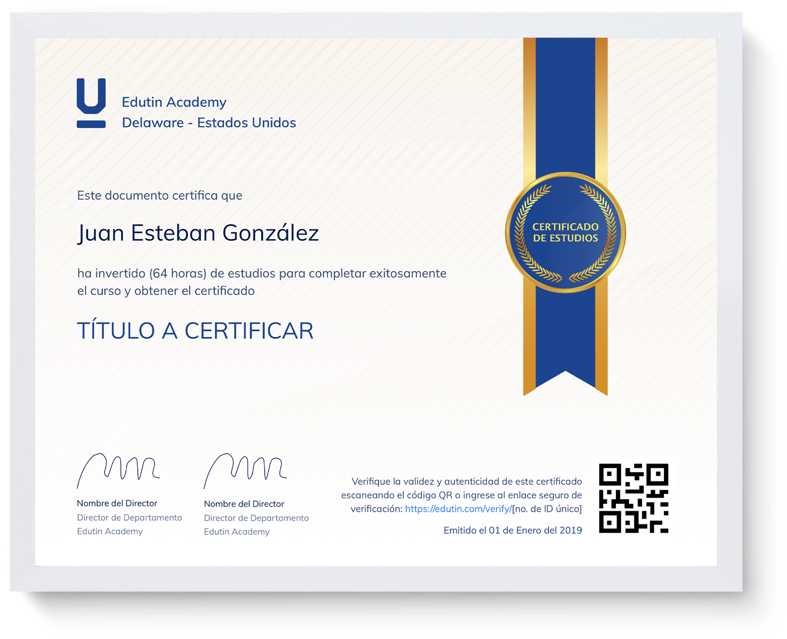 Certificado de estudios